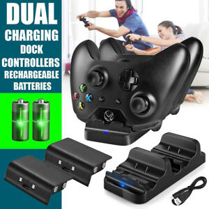 Dual-Charging-Dock-Station-Controller-Charger-2Rechargeable-Battery-For-Xbox-One
