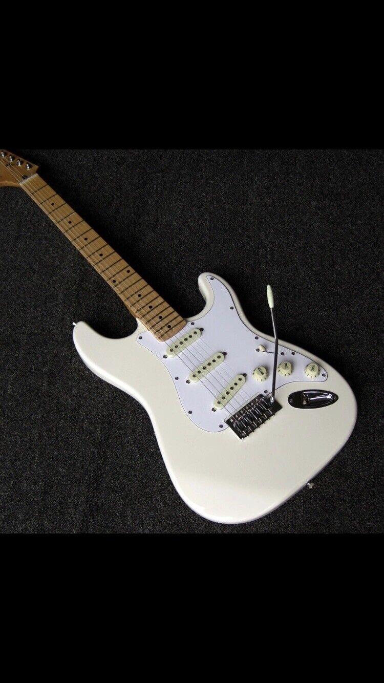 Giggle Jimi Hendrix Signature White Reverse Head Electric Guitar Free Shipping