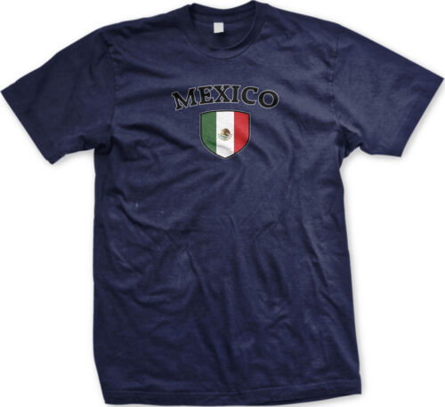 Mexico Flag Crest Mexican National Soccer Football Sports Pride Mens T-shirt