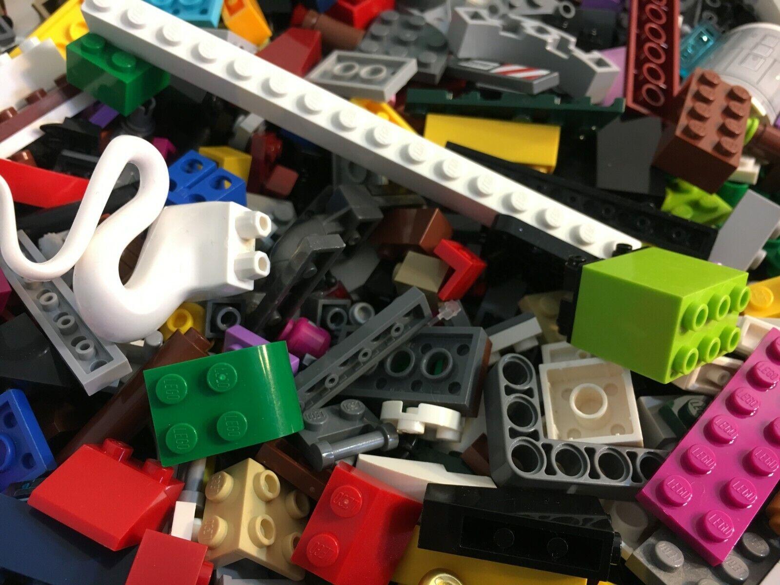 Genuine LEGO 100% 5 lb (environ 2.27 kg) aseptisée ville city star wars Briques Blocs Roues etc