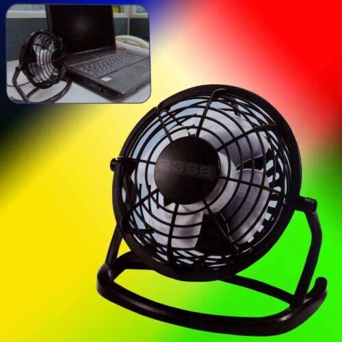 NEW USB Mini Desktop Power PC Laptop Fan Desk Table MAC Black
