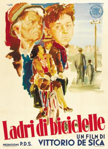 The bicycle thief Vittorio De Sica vintage movie poster 4