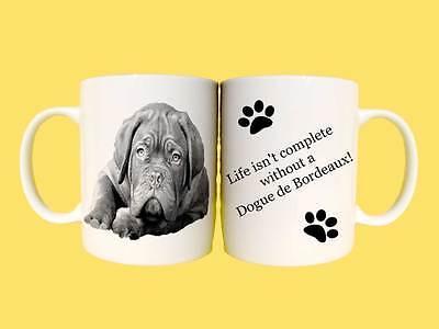 Dogue de Bordeaux Dog Ceramic Mug Gift with Choice of 6 Captions