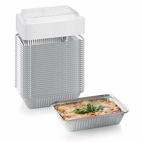 Heavy Duty Disposable Aluminum Oblong Foil Pans with Lid Covers100/% 50 Pack
