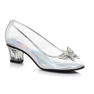 Ellie 201-CINDER Clear Cinderella Princess Pageant Slipper Heel Children Costume