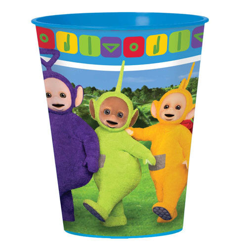 2 TELETUBBIES REUSABLE KEEPSAKE CUPS ~ Birthday Party Supplies Favors Stadium