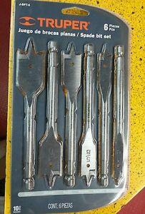 TRUPER J-BPT-6 6-Pc Spade Drill Bit Set