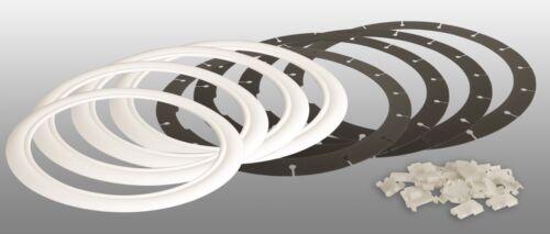 """4x blanco muro anillos 14/"""" pulgadas autorización VW AUDI Opel bmw blanco muro neumáticos tapacubos"""