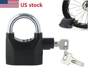 Siren Alarm Padlock Alarm Lock Waterproof for Motorcycle Short Beam Bike Bicycle