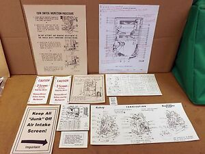 SEEBURG JUKEBOX M-100-B,C,G,W,R,J, & JL CABINET INTERIOR LABEL KIT ...