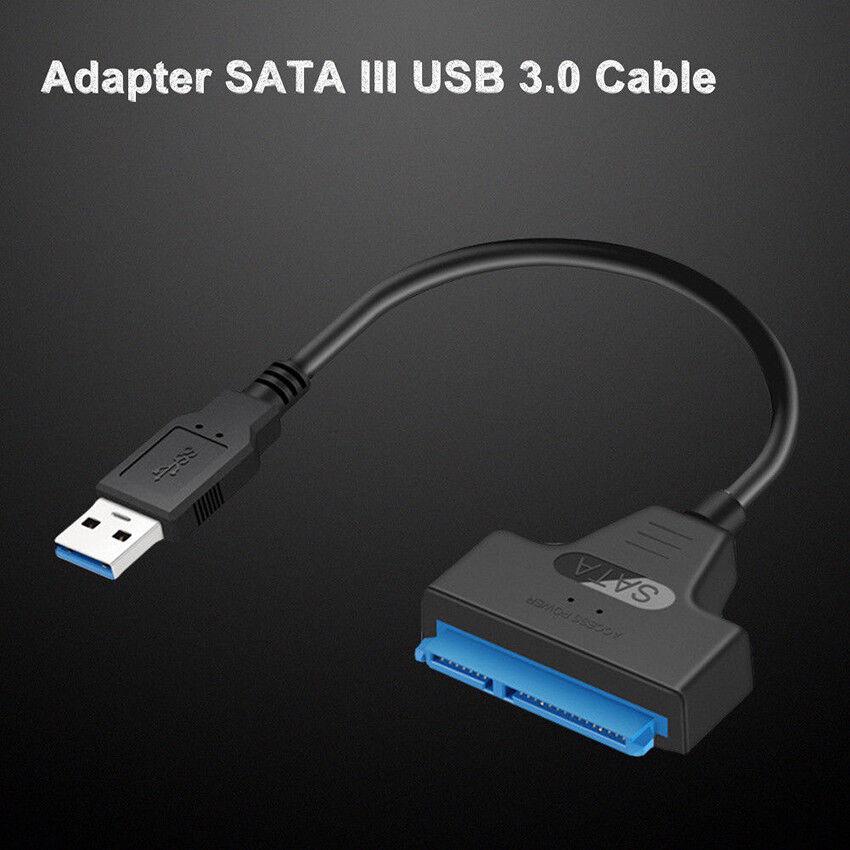 "USB 3.0 To 2.5"" SATA III Hard Drive Adapter Cable-SATA To USB Converter-Black 5"