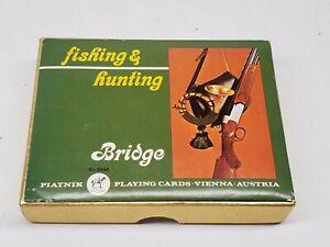 Fishing & Hunting Piatnik Playing Cards Vienna Austria Double Deck No 2245
