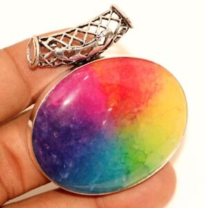 Handmade Gift Items Natural Agate Geode Slice /& 925 Silver Plated Pendant Gemstone Jewelry
