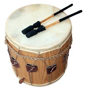 Mittelalter-Trommel-Medieval-Drum-13-5-034-x-13-5-034-Natural