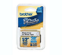 Brother P Touch M231 M-231 6 Pack B/w P-touch Adhesive Label Tape