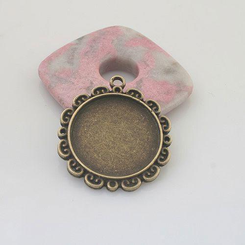 3pcs antiqued bronze heart shape photo frame G1542