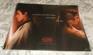 Star Wars Episode II Attack Of The Clones Orig UK Quad Movie Cinema Poster 2002