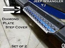 Jeep Wrangler YJ++Highly Polished++Diamond Plate Rocker Step Plates Set 1987-95