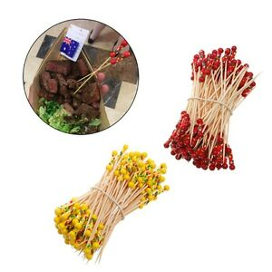 100Pcs-Bamboo-Drink-Cocktail-Sticks-Stirrer-Food-Fruit-Buffet-Party-Wedding-12cm