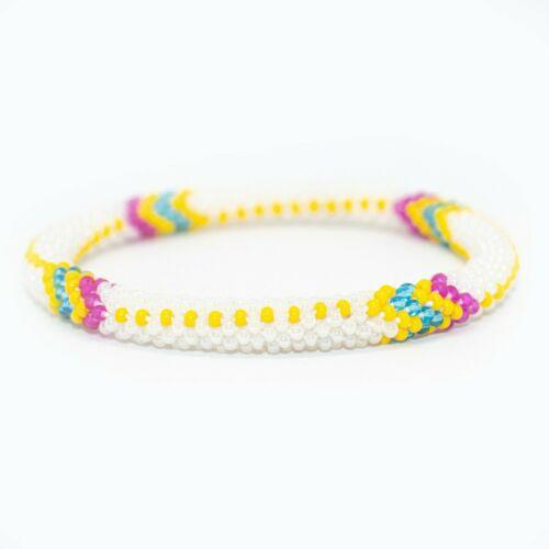 Spring Island Vibes Roll O Bracelet Handmade In Nepal Glas Bead Laura Crochet