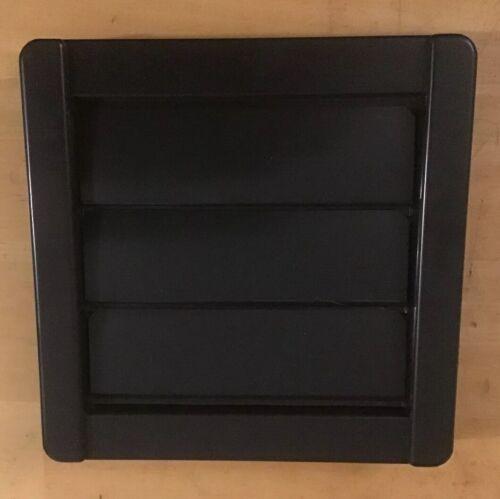 Gravity Backdraft Shutter Grill Black Square 100mm DX100 Xpelair