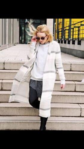 Frakke Lang Størrelse Grå Stripet Zara L Cardigan tE6qn