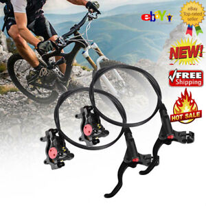 Gold MTB Mountain Bicycle bike Hydraulic Disc Brakes Calipers Front Rear set