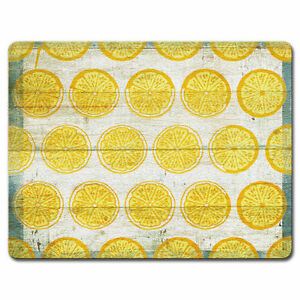Tempered-Glass-Cutting-Cheese-Board-8x10-OLD-FASHIONED-LEMONADE-Lemons-Slices