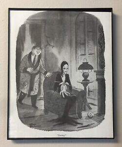 Chaz Addams Family Framed Wall Decor Baby Room Shower Dark Humor Unique Gift Ebay