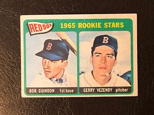 1965 Topps Boston Red Sox Rookie Stars Bob Guindon Gerry Vezendy Card #509 EX RC