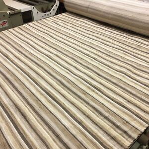 DESIGNER STRIPE COFFEE BROWN CHENILLE UPHOLSTERY CURTAIN