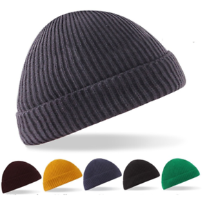 d2f4b58c83c New Retro Fisherman Trawler winter Knit ribbed Turn up Wooly Beanie ...