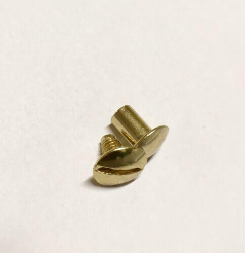 10  Gürtelschraube Buchschraube 8 mm Schraubniete gold