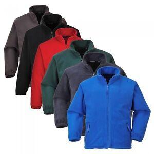 Portwest-Anti-Pil-Argyll-Premium-Pesado-Polar-Chaqueta-bolsillos-con-cremallera-talle-XS-5XL