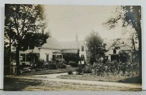 RPPC-Lovely-Home-And-Garden-House-Residence-Real-Photo-c1910-Postcard-L17