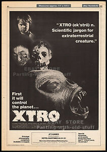 XTRO-Original-1982-Trade-print-AD-promo-poster-Principal-Photography-X-TRO