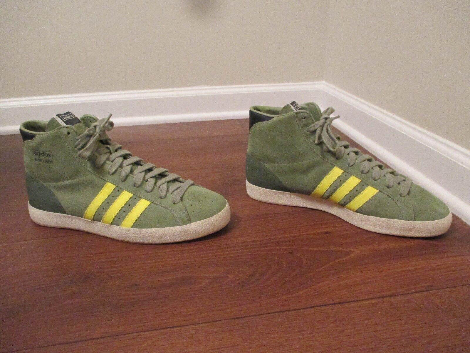 Era indossato taglia 12 adidas adidas adidas cesto cape scarpe tenda verde giallo & electric e5bbb9