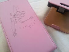 Samsung Galaxy S2 i9100 TINKERBELL LEATHER pink flip phone case fairy fairies