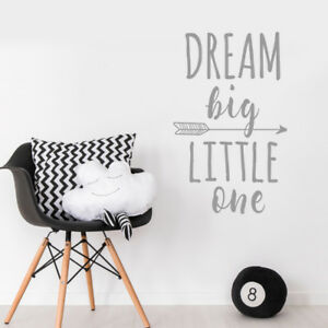 Details About Dream Little One Quote Baby Arrow Nursery Bedroom Wall Sticker