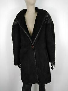 EMME-MONTONE-MADE-IN-ITALY-100-PELLE-Cappotto-Giubbotto-Giacca-Tg-44-Donna
