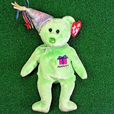 MWMT Rare /'B.B Bear/' Birthday Beanie Baby Ty 1999 Retired Plush Toy SHIPS FREE