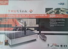 TruLink Wireless USB to VGA With Integrated Audio Kit-Cables to Go 29598