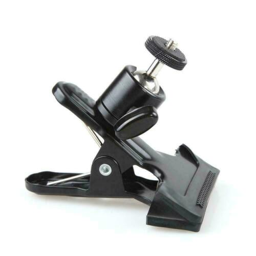 """Spring Ball Head Holder Mount Clip Clamp 1//4/"""" Screw Compact SLR Camera F CL"""