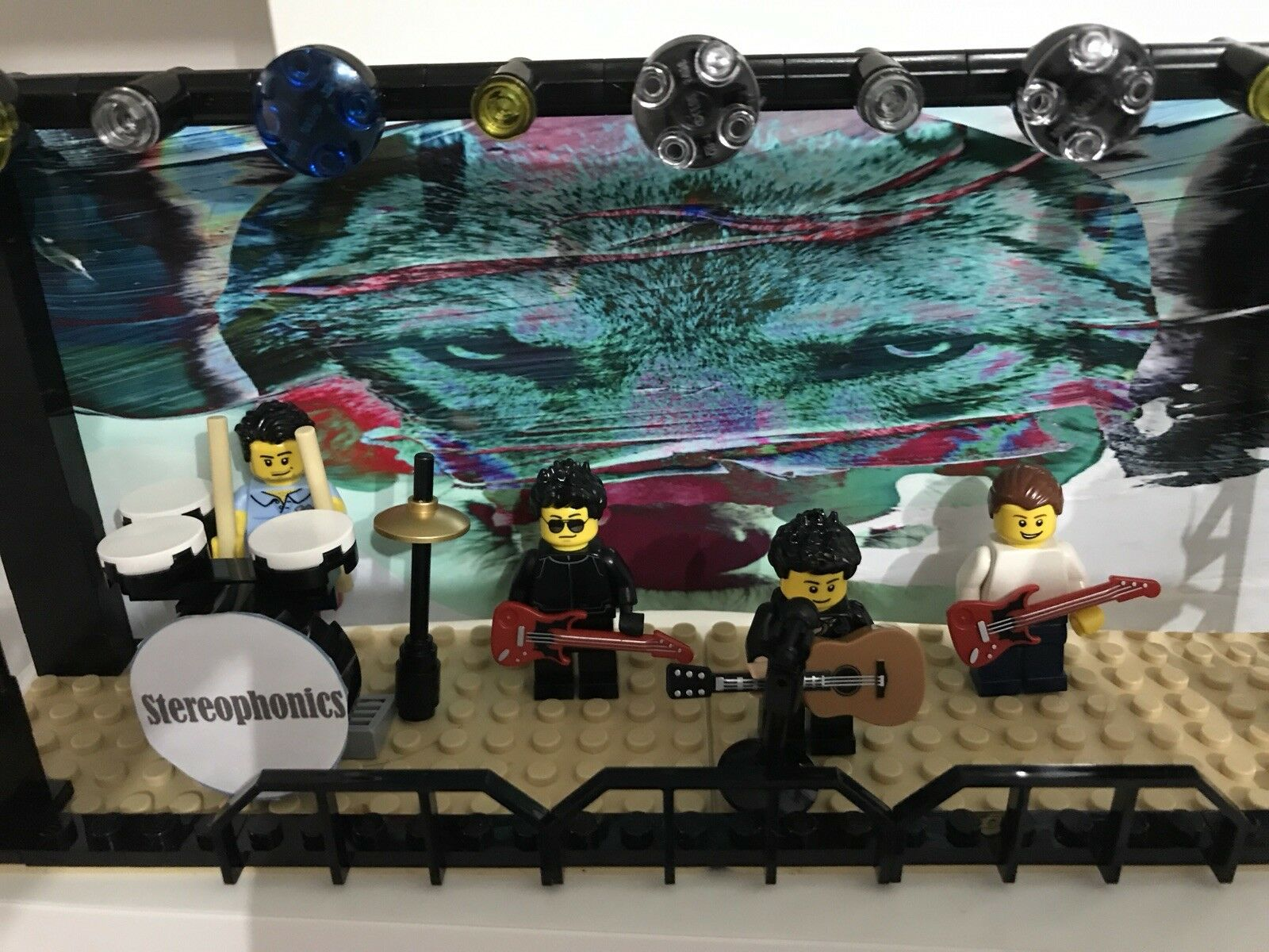 STEREOPHONICS LEGO Minifigures Minifigures Minifigures and Stage. Perfect Birthday Poison Kelly Jones | Terrific Value  761083