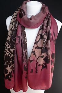 Kleidung & Accessoires Damen-accessoires Kuschliger Winterschal Kreise Punkte Camouflage Rot Schwarz Damen Schal 726 Hell Und Durchscheinend Im Aussehen
