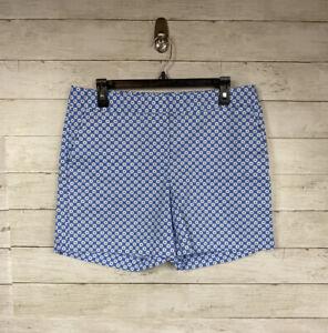 Talbots-Blue-White-Design-Bermuda-Shorts-size-10