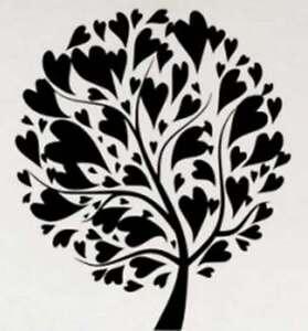 Arbre-Plein-d-039-Amour-Autocollant-Mural-Vinyle-Demontable-Decalque-haute-qualite-decor-UK