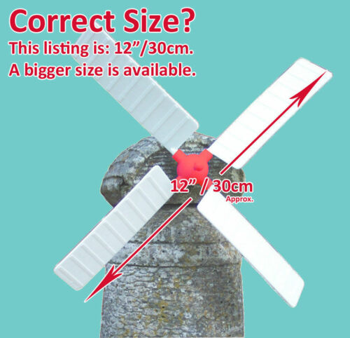 "GARDEN WINDMILL SAILS BLADES FOR STONE ORNAMENT LARGE REF 12/"" DIAMETER"