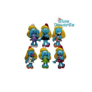 "Diligent 5"" Fashion Smurfs... 6 De Schtroumpf Styles To Collect!!! Smurfette Fashion Collection-afficher Le Titre D'origine"