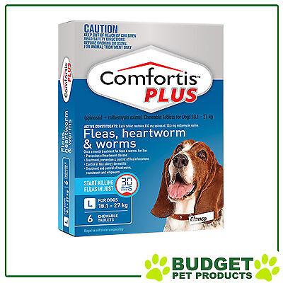 Comfortis Plus (Panoramis) Dog Flea Heartworm & Worm - 6 Pack